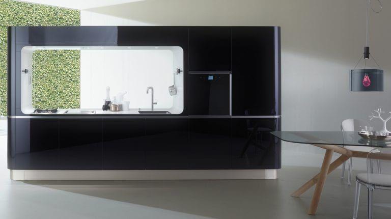 Amazing Compact Kitchen – Liquida Frame from Veneta Cucine .