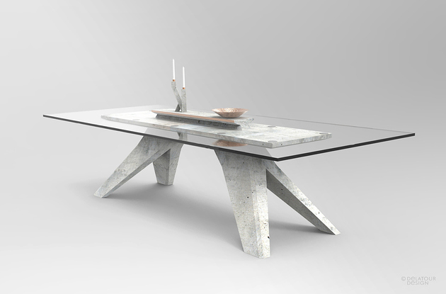 Lightweight Concrete Furniture Collection for Modern Interio