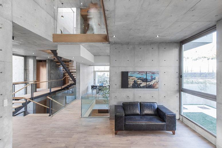 Multi-Level Concrete Villa 131 With Industrial Interior - DigsDi
