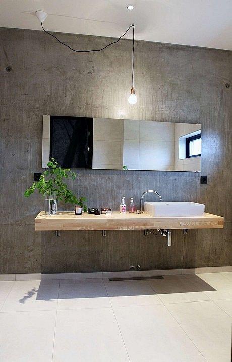 Villa E by Stringdahl Design | HomeAdore | Concrete bathroom .