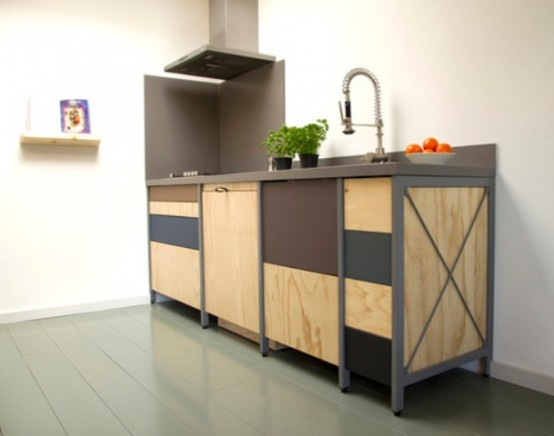Constructive Kitchen With Industrial And Minimalist Touches - DigsDi