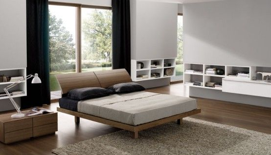 Contemporary Bedroom Layouts with MisuraEmmes Beds   Bedroom .
