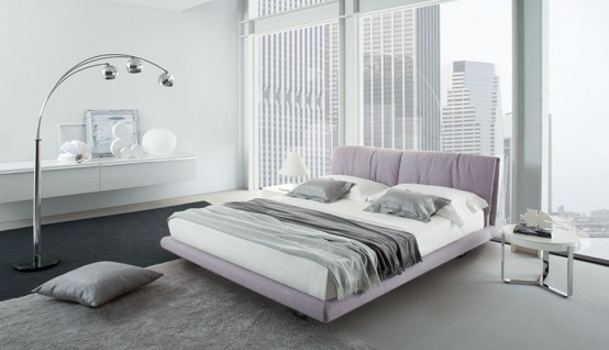Contemporary Bedroom Layouts with MisuraEmme's Beds - DigsDi