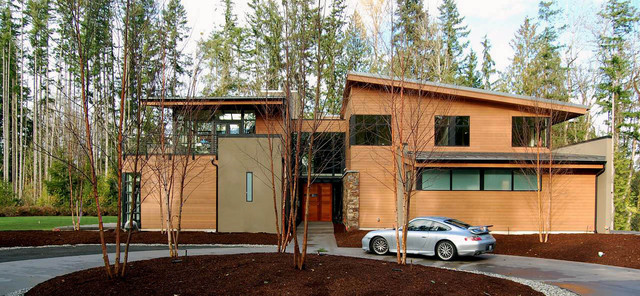 Forest House - Contemporary - Exterior - Seattle - by McClellan .