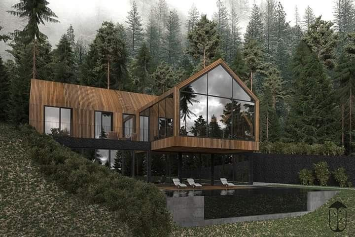 Forest House in Ukraine by U-STYLE Dinara Yusupova   Forest house .