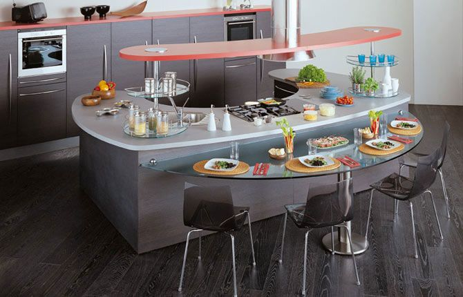 Modern Kitchens with Curved Tops Skyline by Snaidero .