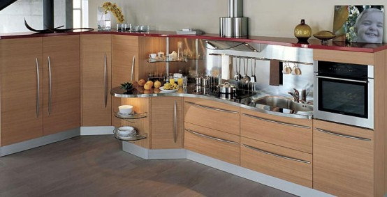 Contemporary Kitchens with Curved Tops – Skyline by Snaidero .