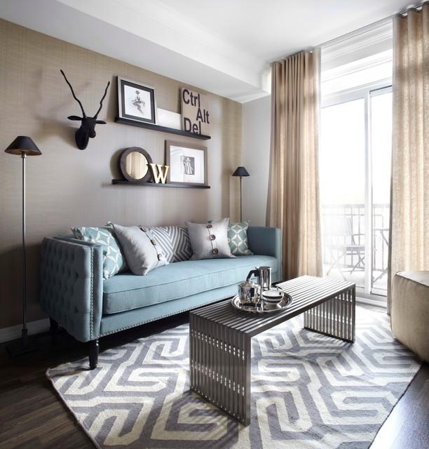 Queenscorp Condo - Contemporary - Living Room - Toronto - by LUX .