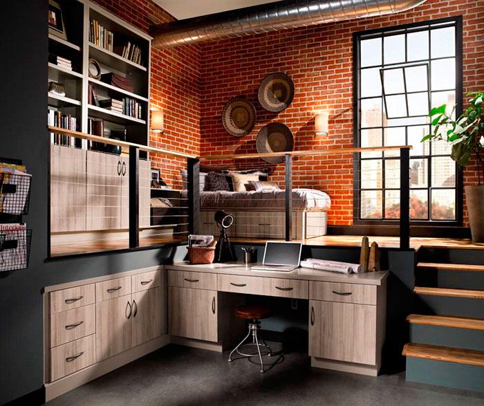 Contemporary Cabinets in Loft Apartment - Kitchen Cra