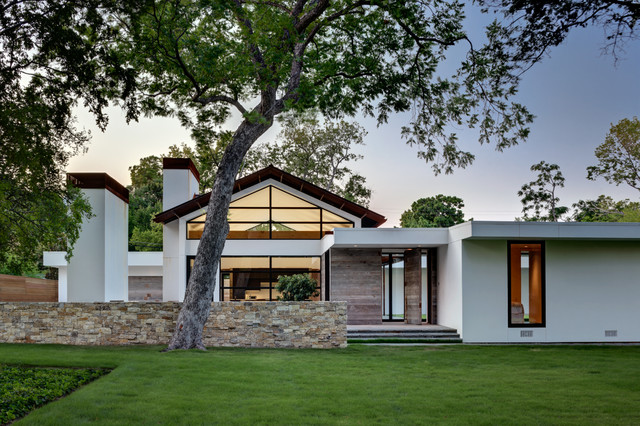 Ranch Home Goes Modern - Contemporary - Exterior - Dallas - by .