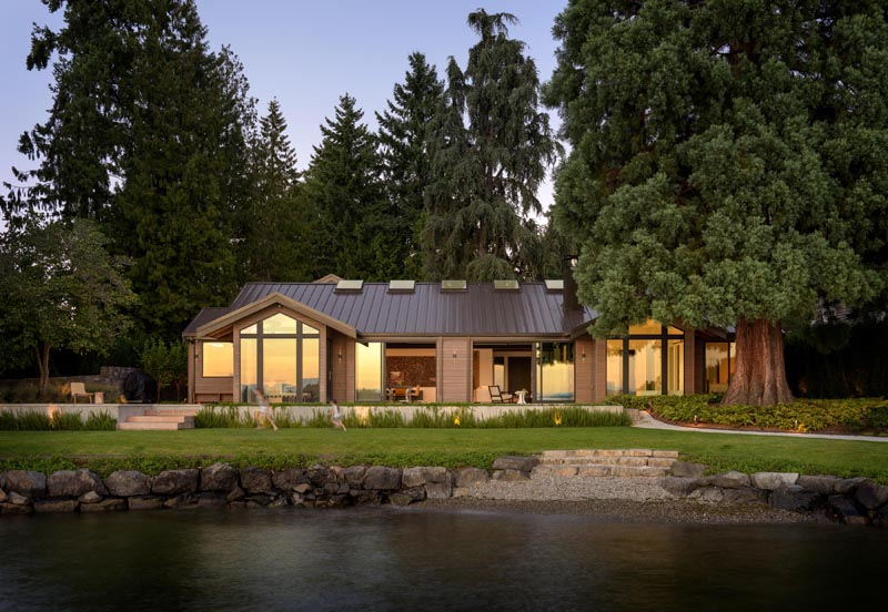 A Contemporary Remodel For A Lakeside Home In Washington Sta