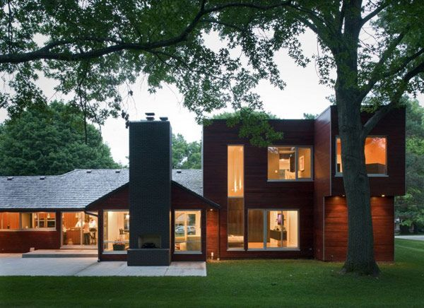 Contemporary Ranch House Makeover in Missouri | Ranch style homes .