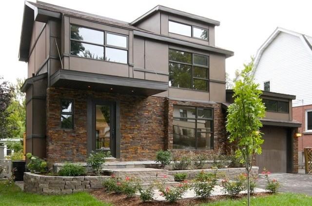 Contemporary Natural Stone Residence - Contemporary - Exterior .