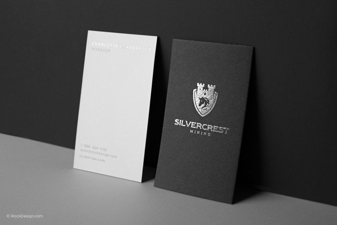 Black and white business cards TEMPLATE | RockDesign.c