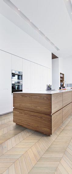100+ Best white kitchen with wooden floor images | kitchen .