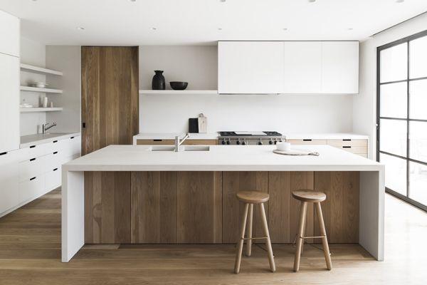 45 White & Wood Kitchen Ideas | White wood kitchens, Contemporary .