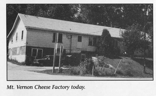 Mount Vernon Cheese Factory - Mt Horeb Area Historical Society's .