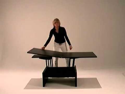 Kubo - Coffee table convert in dining table smart furniture - YouTu