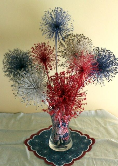 53 Cool 4th July Centerpieces In National Colors | Fireworks .