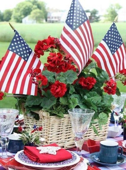 47 Cool 4th July Centerpieces In National Colors | 4th of july .
