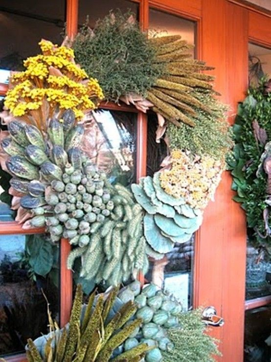 20 Cool And Colorful Thanksgiving Wreaths Ideas | Thanksgiving .