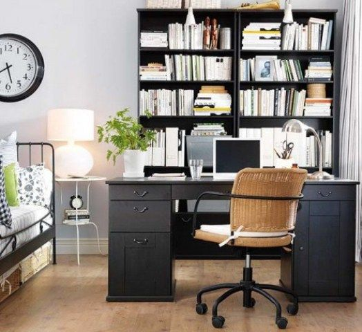 43 Cool And Thoughtful Home Office Storage Ideas | Bedroom office .
