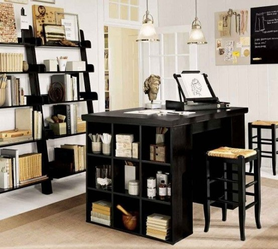 43 Cool And Thoughtful Home Office Storage Ideas - DigsDi