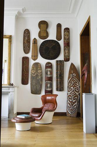 Wednesday Classics, A Belgian Interior | | African home decor .