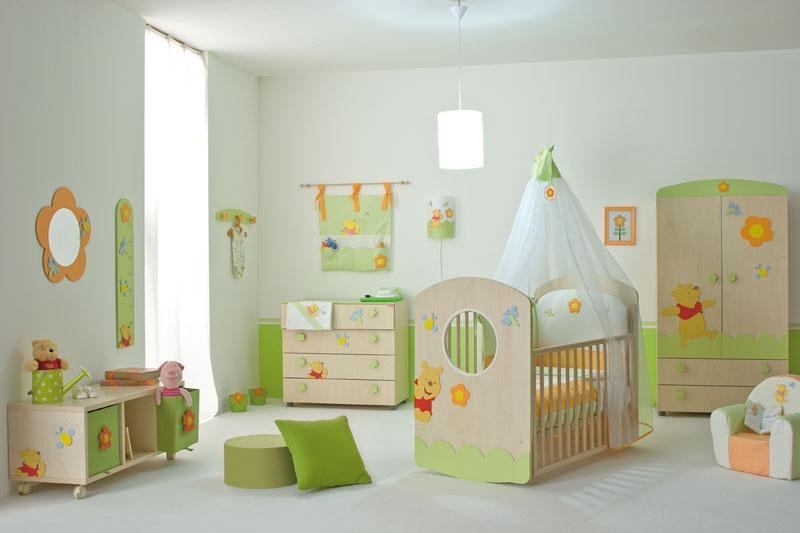 Nice Baby Nursery Furniture Set with Winnie the Pooh from Doimo .