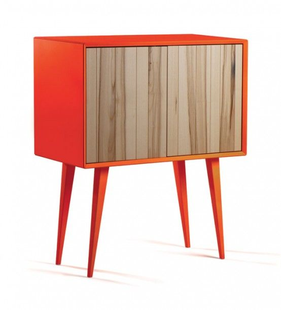 Cool Bright Cabinet In Mid-Century And Minimalist Sty