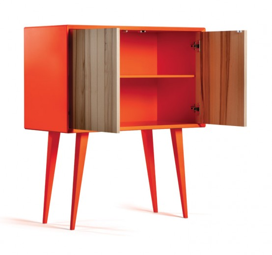 Cool Bright Cabinet In Mid-Century And Minimalist Style - DigsDi
