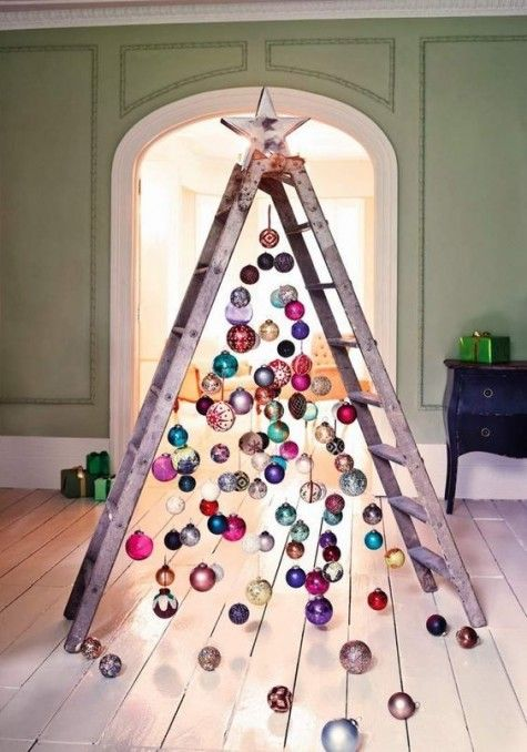25 Coolest Christmas Tree Alternatives | Creative christmas trees .