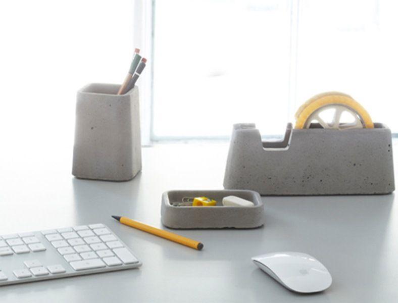 Cool Concrete Desk Accessories Collection | DigsDigs | Desk .