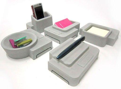 Umamy Concrete Desk Accessories | Desk accessories, Cement design .