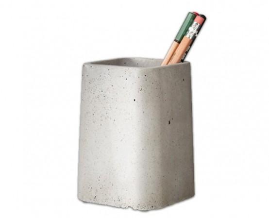 Cool Concrete Desk Accessories Collection - DigsDi