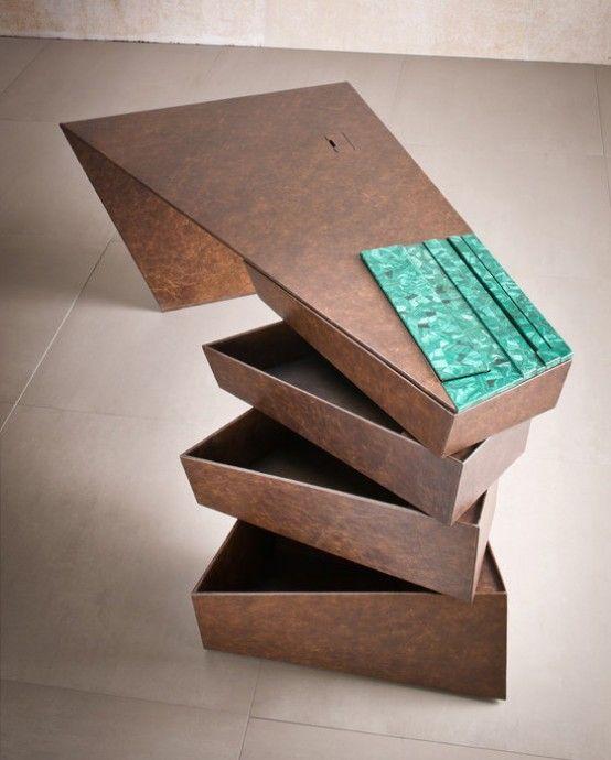 Creative design desk | Desk design, Unique wood furniture .