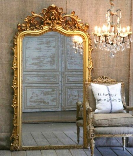 33 Cool Idea To Use Big Golden Mirrors For Your Decor | Espejos de .
