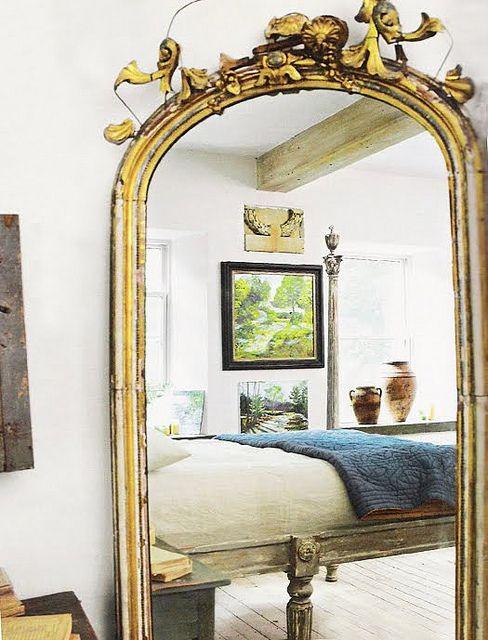 gilded mirror | Home, White rooms, Decor desi