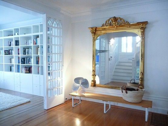 33 Cool Idea To Use Big Golden Mirrors For Your Decor | DigsDigs .