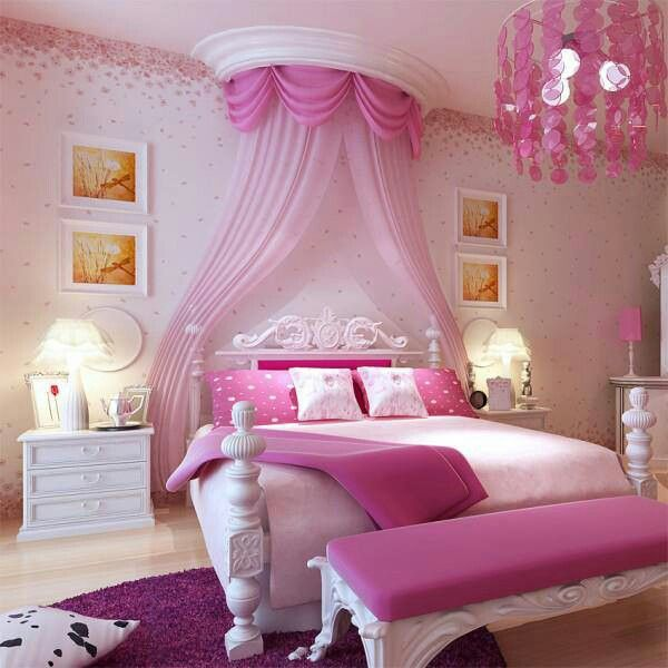 21 Awesome Pink Girl Bedroom Ideas   Pink bedroom for girls .
