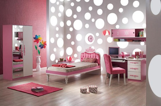 15 Cool Ideas For Pink Girls Bedrooms - DigsDi