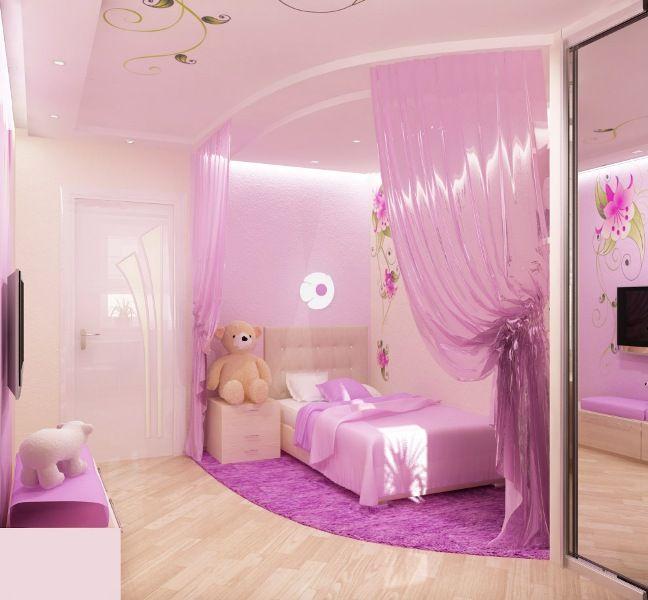 Pink Bedroom Design For A Little Princess   Kidsomania   Girly .
