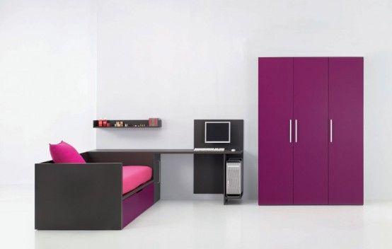 Cool Junior Room with Colorful Interior Design: Minimalist Junior .