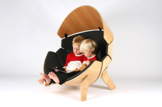 Cool Kid Private Hideaway: Molded Plywood Chair - DigsDi