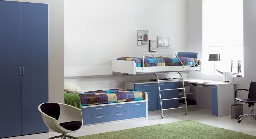 Blue Shared Teens Room With Cool Study Area Design By Asdara, best .