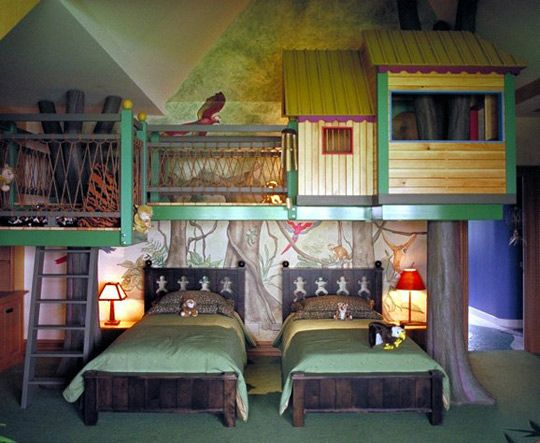 An Over The Top Wonderful Woodland Bedroom | Cool kids bedrooms .