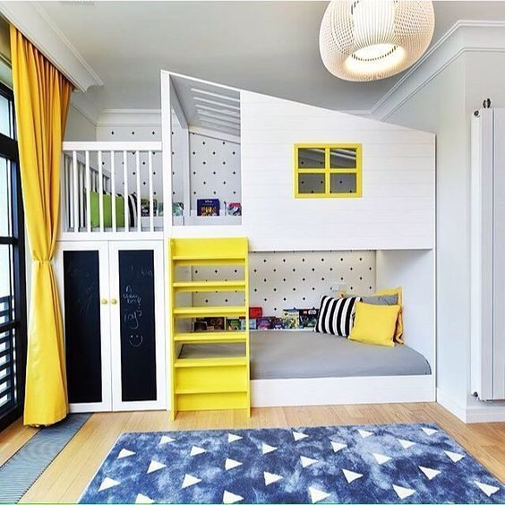 15 Inspirational Examples To Refresh The Kids Room With Yellow .