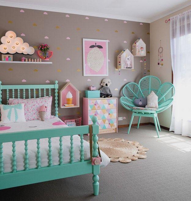 Teal and Pink | 12 Amazing Kids Bedrooms | Tween girls room .