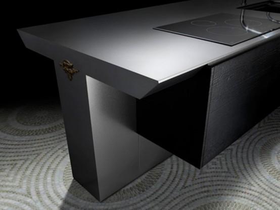 Cool Minimalist Kitchen In Dark Grey From Toyo - DigsDi