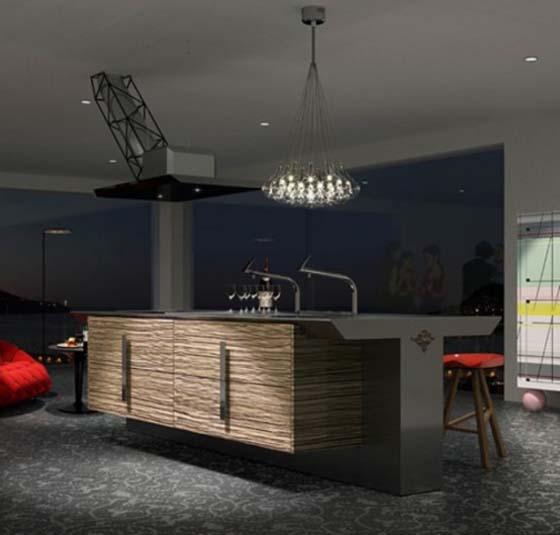 Elegant Minimalist Dark Kitchen for modern homes - Pursuiti